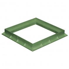 Cadre PVC anti-choc pour grille et tampon - VERT - FIRST-PLAST