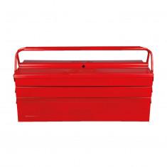 Caisse à outils métallique, 5 compartiments 530 x 210 x 200 m