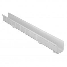 Grille ventilation ronde PVC blanc + fermeture - A encastrer