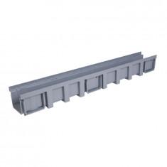 Pack Caniveau PP 130x1000 + grille acier - Profondeur 200mm