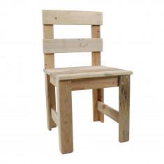 Chaise enfant en bois de palette recyclé 30 x 30 x 60 cm