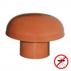 Chapeaux de ventilation PVC avec moustiquaire - Rouge tuile