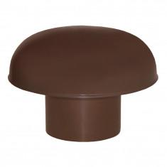 Chapeaux de ventilation PVC sans moustiquaire - Marron