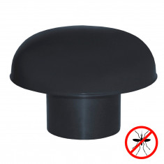 Chapeaux de ventilation PVC avec moustiquaire - Gris ardoise