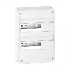 Coffret électrique Resi9 13 modules - 2 rangées - Schneider Electric R9H13402
