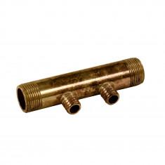 """Collecteur 3/4"""" (20/27) Mâle - 2 départs pour tube PER Ø16 - entraxe 40mm"""