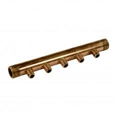 """Collecteur 3/4"""" (20/27) Mâle - 5 départs pour tube PER Ø16 - entraxe 40mm"""