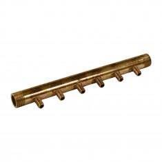 """Collecteur 3/4"""" (20/27) Mâle - 6 départs pour tube PER Ø12 - entraxe 40mm"""