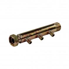 """Collecteur 3/4"""" (20/27) Mâle + écrou tournant - 3 départs pour tube PER Ø12 - entraxe 40mm"""