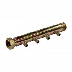 """Collecteur 3/4"""" (20/27) Mâle + écrou tournant - 4 départs pour tube PER Ø12 - entraxe 40mm"""