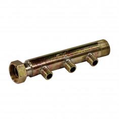 """Collecteur 3/4"""" (20/27) Mâle + écrou tournant - 3 départs pour tube PER Ø16 - entraxe 40mm"""