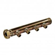 """Collecteur 3/4"""" (20/27) Mâle + écrou tournant - 4 départs pour tube PER Ø16 - entraxe 40mm"""