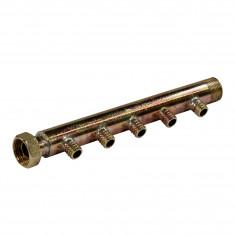 """Collecteur 3/4"""" (20/27) Mâle + écrou tournant - 5 départs pour tube PER Ø16 - entraxe 40mm"""