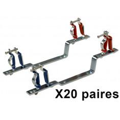 """20 paires de Supports réglables pour collecteurs 1/2"""" (15/21) - 3/4"""" (20/27) - 1'' (15/21) - Arcanaute"""