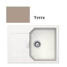 Évier de cuisine Cristalite Manhattan - 690 x 510 x 195 mm - sous-meuble 45 cm - Coloris Terra - Schock