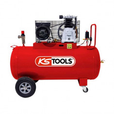 Compresseur d'air 100 litres - 10 bars - 3CV - 230V - KS Tools 165.0704