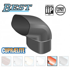 Coude PVC 87°30 MF pour tube BEST Ø92x57 - effet cuivre