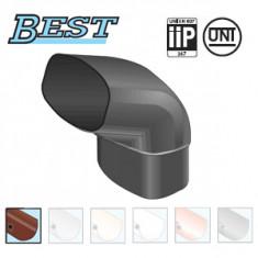 Coude PVC 87°30 MF pour tube BEST Ø92x57 - marron