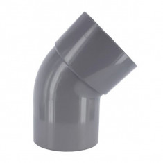 Coude PVC 45° Mâle/Femelle - DISPONIBLE en 9 MODÈLES  First Plast