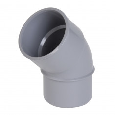 Coude PVC 45° Mâle Femelle Ø32 ou Ø40 ou Ø50 ou Ø100 Nicoll