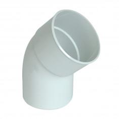 Coude PVC 45° MF pour tube Ø100 épaisseur 2.2mm - blanc
