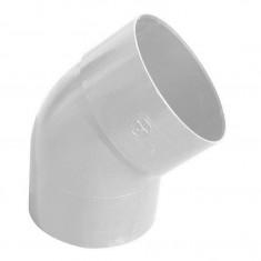 Coude PVC 45° MF pour tube Ø100 épaisseur 3.2mm - gris