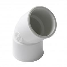 Coude PVC blanc 45° Femelle Femelle Ø32 ou Ø40 ou Ø50 Nicoll