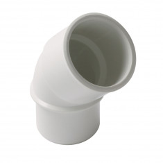 Coude PVC blanc 45° Mâle Femelle Ø32 ou Ø40 ou Ø50 Nicoll