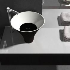 Vasque céramique Déco Flute diamètre 38cm - Ondyna FL382313
