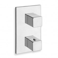 Facade thermostatique douche encastré QUADRI Chromé (3 sorties) - Cristina Ondyna XQ85351