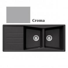 Évier de cuisine Cristalite Opus - 1160 x 500 x 195 mm - sous-meuble 80 cm - Coloris Croma - Aquatop