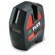 Laser à faisceau croisés autonivelant à batterie intégrée - 1 horizontal - 2 verticals - Flex