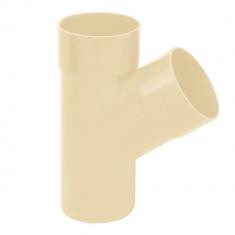 Culotte PVC 67°30 MF pour tube Ø100 épaisseur 3.2mm - sable