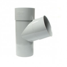 Culotte PVC 67°30 Mâle Femelle Ø80 ou Ø100 FIRST-PLAST