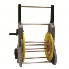 Dévidoir sur roues manivelle débray+démult tuyau Ø15 (60m)-Ø19 (50m)
