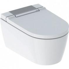 WC complet suspendu Geberit AquaClean Sela: Chromé brillant