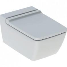 WC suspendu rimfree sans bride XENO² caréné avec abattant frein de chute - Geberit