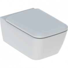 WC suspendu rimfree sans bride ICON SQUARE caréné avec abattant frein de chute - Geberit