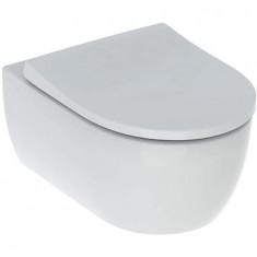 WC suspendu rimfree sans bride ICON caréné avec abattant frein de chute - Geberit