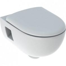 WC suspendu rimfree sans bride RENOVA semi- caréné avec abattant frein de chute - Geberit