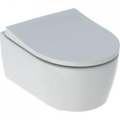WC suspendu rimfree sans bride ICON COMPACT caréné avec abattant frein de chute - Geberit
