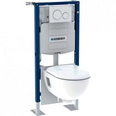 Pack bâti-support Duofix + plaque de déclenchement Sigma20 + WC Renova - Geberit