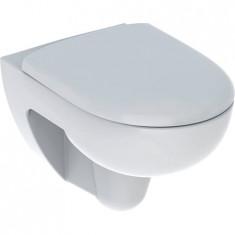 WC suspendu rimfree sans bride RENOVA avec abattant frein de chute déclipsable - Geberit