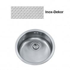 Cuve ronde Inox-DEKOR RAX/RAL610-38 - Ø 430 mm - Sous meuble 45 cm - Franke