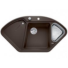 Évier de cuisine BlancoDelta II - Café - sous-meuble 90x90x80 cm - L 1057 x l 575 x P 183/120 mm + vide-sauce - Blanco