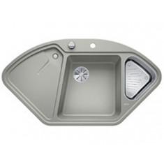 Évier de cuisine BlancoDelta II - Gris Perle - sous-meuble 90x90x80 cm - L 1057 x l 575 x P 183/120 mm + vide-sauce - Blanco