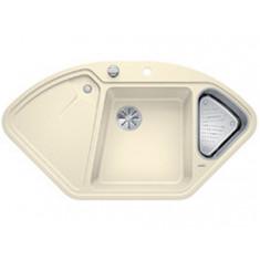 Évier de cuisine BlancoDelta II - Jasmin - sous-meuble 90x90x80 cm - L 1057 x l 575 x P 183/120 mm + vide-sauce - Blanco