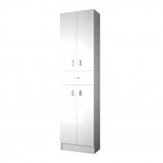 Pack Unik VICTORIA-N oval 1200 4 tiroirs, lavabo double, miroir et appliques LED