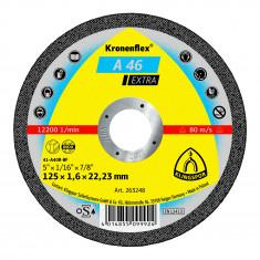 Disque à tronçonner Ø125mm A 46 EX pour Acier et métal - Klingspor 263248