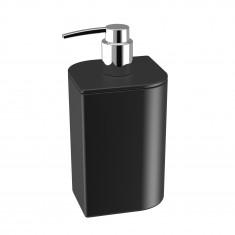 Distributeur savon KOH-I-NOOR VELA à poser 8x8x15cm céramique noire